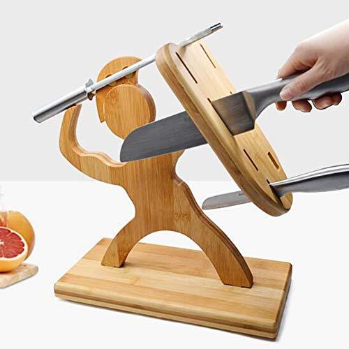 ZHIRCEKE 7 Cuchillos creativos BABUO Forma Humana Bloque de Cuchillos de Cocina, Soporte para Cuchillos, Soporte de Cuchillo, Pantalla de Cubiertos y Soporte de Almacenamiento (sin Cuchillo)