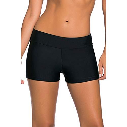 Bikinis Mujer 2020,Traje de baño de Las Mujeres Vacaciones más el tamaño de Color sólido Boxer Shorts