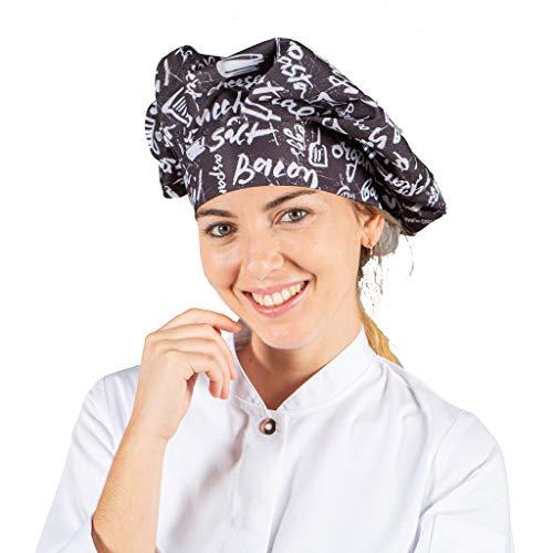 GARY´S Cappello da Cuoco Regolabile 16 Colori .Accessori da Cucina per Hotel, ristoranti, Barbecue, Feste, Large.448900. 100% poliestere (KITCHEN)