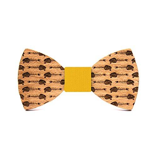 Territorial Pajarita de madera Boquerón. Colección Toperita Línea bodas y eventos. Edición limitada. Confeccionada en España. Regalo para hombre elegante y original
