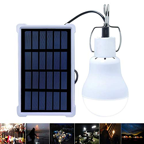 Solar Lights Rechargeable Solar LED Light Bulb Portable Lamp KGS-1200 for Indoor Outdoor Garden Shed Tent Camping Hiking Home Emergency Lighting [Upgraded, 130LM 800mA]