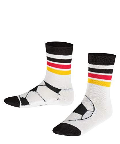 FALKE Kinder Socken Soccer - Baumwollmischung, 1 Paar, Weiß (White 2000), Größe: 23-26