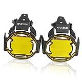 2PCS Fendinebbia Protector Guard Covers Cover OEM FOGLIGHT Coperchio per la lampada per R 1200GS ADV F800GS ADV.ENT R1200GS 2012 2013 2014-2020 (Color : Gold GS)