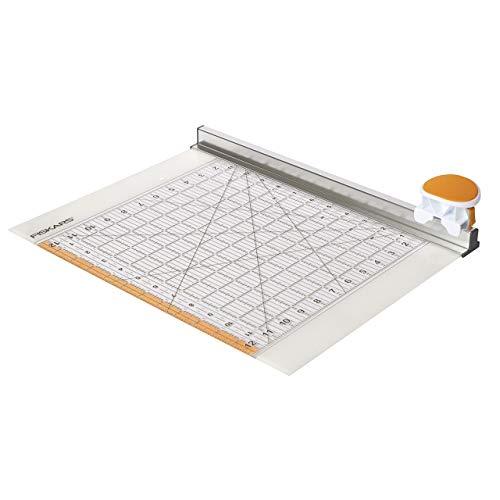"""Fiskars Rollmesser mit Lineal, 12"""" x 12"""", Orange/Weiß, 1016264"""