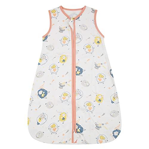 WangsCanis Toddler - Saco de dormir para bebé - Saco de dormir para bebé - Saco de dormir de verano - Cremalleras lisas ajustables - Unisex - Finas finas - Ropa ligera Pecore Large