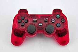 Smart Box Bluetooth Wireless Dualshock Controller For Sony Playstation 3 (Transparent Crimson Red)