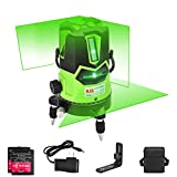 ML&SL 3D グリーン ビーム レーザー レベル セルフ レベリング レーザー レベル 水平 垂直 クロス ライン ダウン プラム ドット 360 回転 ベース チルト と アウトドア モード 磁気 サポート 付属 グリーン