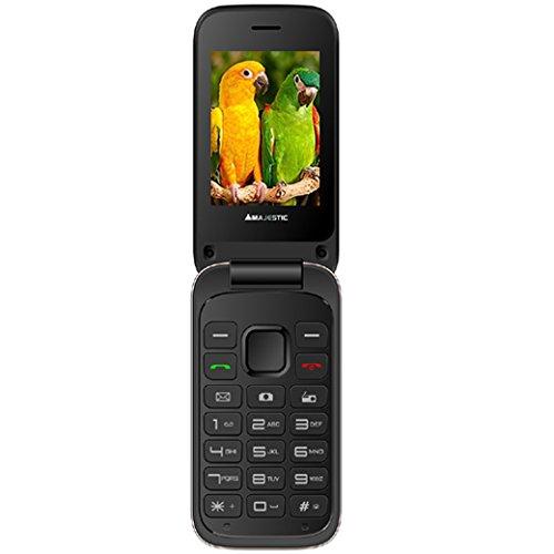 Majestic TLF Lucky 61 Flip - Teléfono gsm Doble SIM con Tapa Activa, Pantalla de 2,4 Pulgadas, cámara, Bluetooth, Radio, Lectura de Archivos Multimedia, Color Dorado