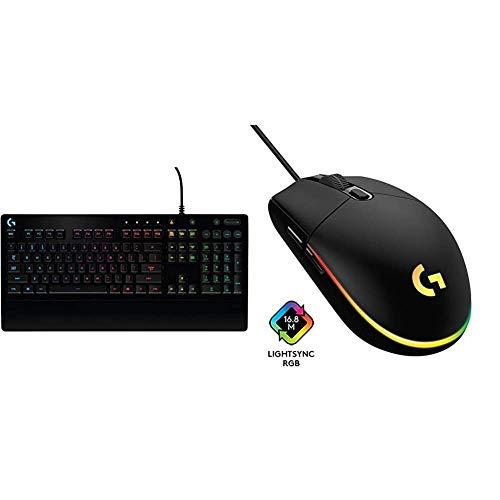Logitech G213 Prodigy Gaming-Tastatur, RGB-Beleuchtung, Programmierbare G-Tasten + Logitech G203 Gaming-Maus mit anpassbarer LIGHTSYNC RGB-Beleuchtung, 6 programmierbare Tasten