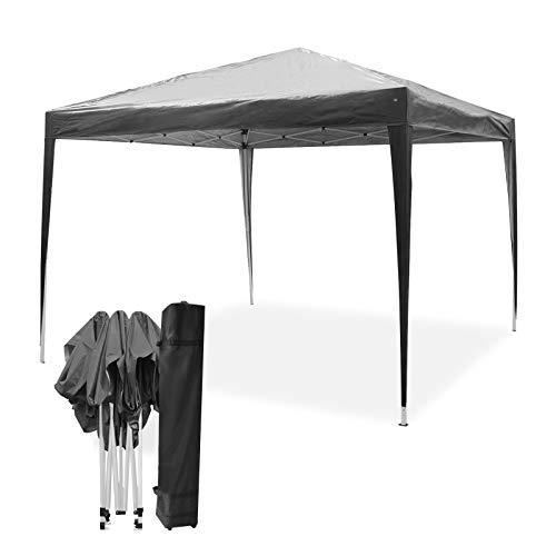 Mondeer, Tonnelle de Jardin, 3x3m, Toile Tonnelle Pliante, Tente de Camping, Pavillon, Gazebo Pliant Imperméable, Tonnelle Camping, Reception pour Jardin, Fête, Camping, Festival, Mariage (Gris)