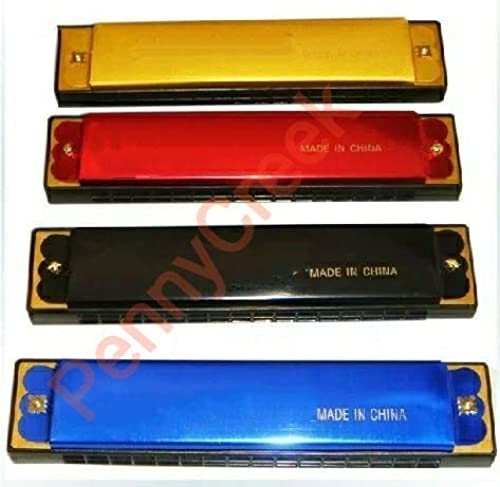 Pennycreek Mouth Organ Harmonica With 48 Holes For Begginers And For Childerns Red