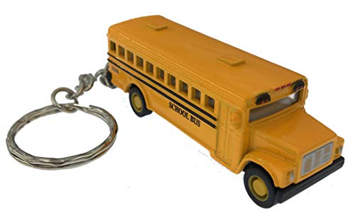 Mini Diecast School Bus Keychain Pullback by Kinsmart