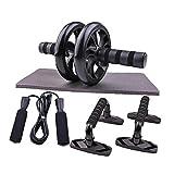 AB Rodillo para el entrenamiento de ABS, la rueda de rodillo AB para el entrenamiento del núcleo, el rodillo de AB con las bandas de resistencia, la estera de la rodilla, los controles deslizantes de