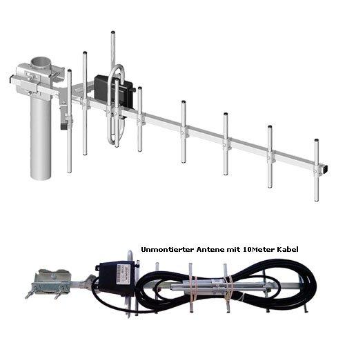 2 x LTE Richtfunk Antenne 13,5dBi GEWINN 10Meter kabel und SMA Stecker für Huawei Speedport B390S 2, B390 S-2, DD800, LTE Router Speedport B390S, B390, B1000, B2000, Lancom 1781-4G, Vodafone Turbobox 803 903 904, LG FM300, DD800, B593U-12