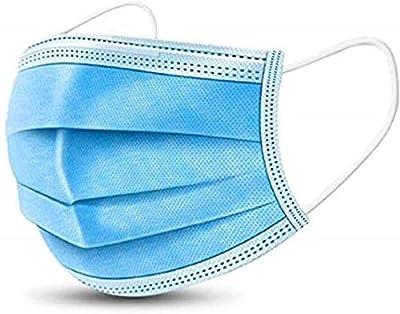 RALOVE Disposàble EarloopFace Màsks Face Cover, Face Shields 3-PLY Blue (50PCS)