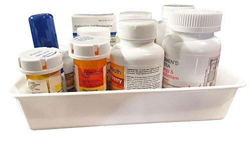 Medication & Supplement Storage Bin Cabinet Organizer - 6 x 9 Tray