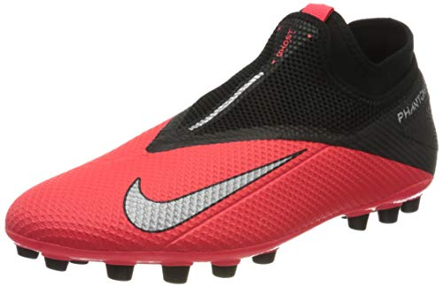 Nike Phantom VSN 2 Academy DF AG, Botas de fútbol Hombre, Plata Laser Crimson 606, 44 EU
