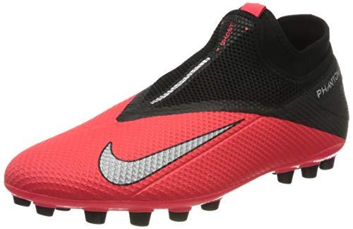 Nike Phantom VSN 2 Academy DF AG, Botas de fútbol Hombre, Plata Laser Crimson 606, 47.5 EU