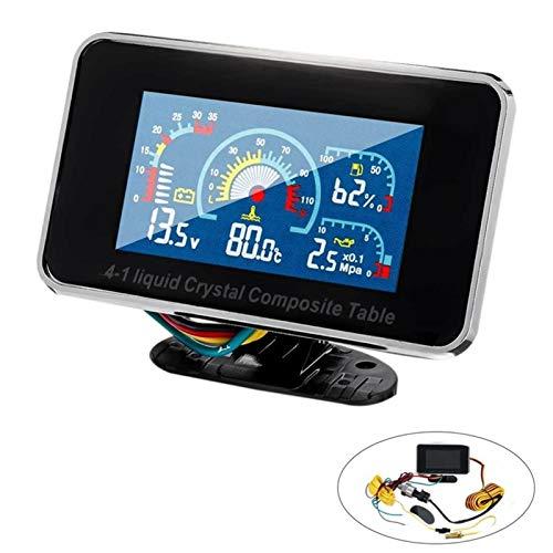 Ymhan® 12V / 24V 4 en 1 LCD Coche de Alarma Digital...