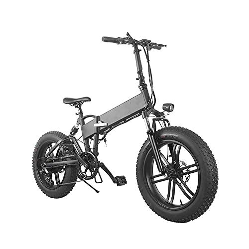 Bicicletta elettrica per pneumatici grassi, bicicletta elettrica pieghevole da 500 W, ebike con batteria rimovibile da 36V/10 Ah