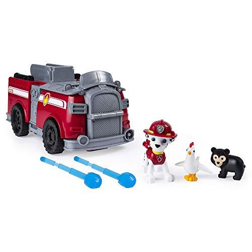 PAW Patrol Ride 'N' Rescue di Marshall, Gioco 2 in 1, Set di Gioco e Camion dei Pompieri, dai 3 Anni