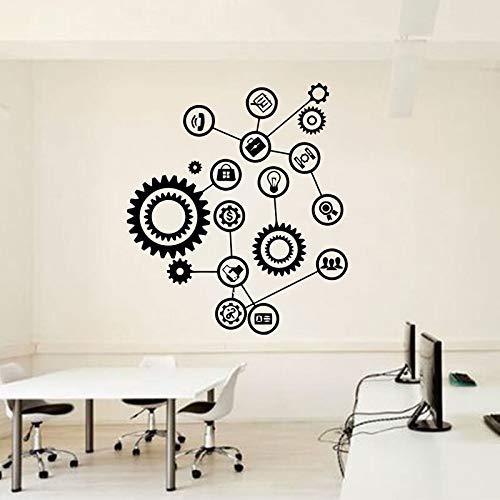 JXFM DIY Gear Mechanism Engineering Wall Vinyl Decal Stickers Interior Home Art Deco Wallpaper Color o tamaño Personalizado