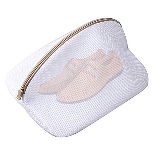 pengxiaomei Mesh Laundry Bags with Zips, Large Washing Bags for Delicates, Underwear, Socks, Bras, Shoes, White