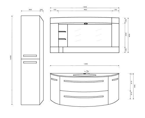 "OimexGmbH Design Badmöbel Set ""Côte Bild 2*"