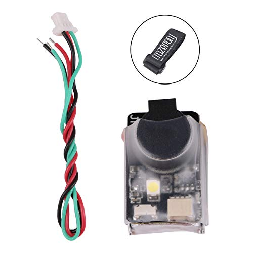 JHE42B Finder RC Quadcopter 110dB 5V Loud Buzzer Beeper Tracker Alert LED Buzzer with Lipo Battery Strap Compatible with All BF/CF Flight Controller FPV Racing