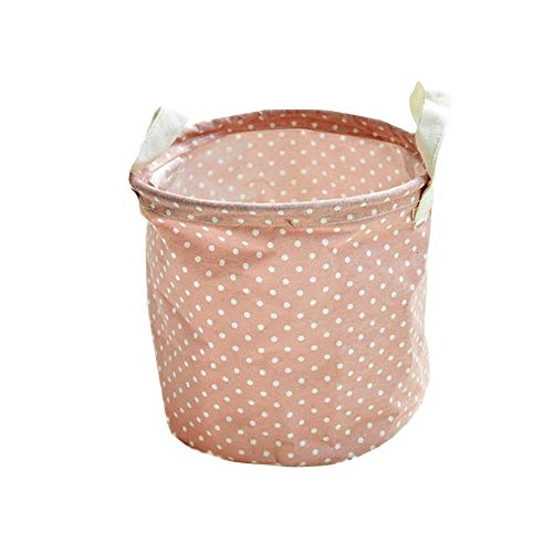 TUANTALL fabric storage baskets small hamper baskets empty basket storage small basket small storage basket storage basket side table bathroom storage baskets pink