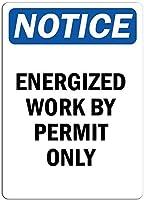 装飾バーパブホームヴィンテージの外観の複製、私は許可のみのサイン、レトロな鉄の絵画金属ポスター警告プラークアートガレージホームガーデンストアバーインチのための装飾による精力的な仕事