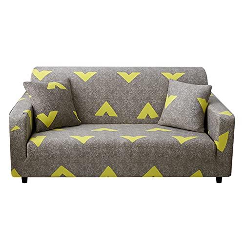 Funda de sofá elástica geométrica para Sala de Estar, Funda de sofá de Esquina seccional Moderna, Funda Antideslizante para sofá A7, 4 plazas