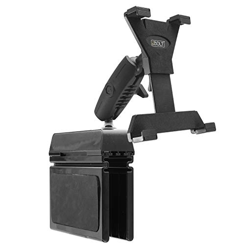 """iBOLT TabDock Bizmount Wedge - Heavy Duty Vehicle Console Mount for All 7"""" - 10"""" Tablets ( iPad , Nexus, Samsung Tab ). Great for Work, Personal, and Business Vehicles"""