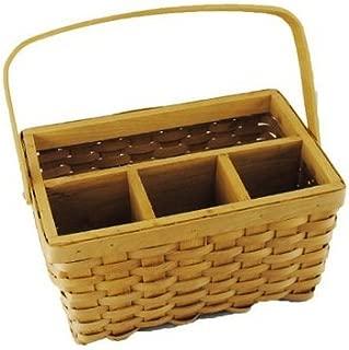 TOPOT 10PC Woodchip Utensil Basket with Swift Handle wholesale lot