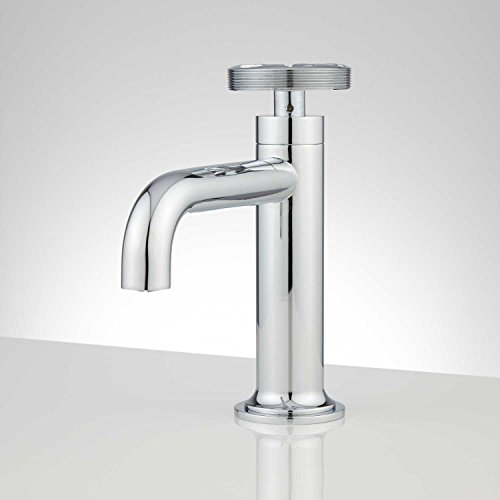 Signature Hardware 929404 Edison 1.2 GPM Single Hole Bathroom Faucet with Pop-Up Drain Assembly