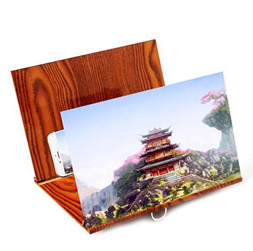 LQ&XL Mobile Phone 3D Screen Magnifier Amplifier Stand 4X Enlarging Effect HD Cell Phone Screen...