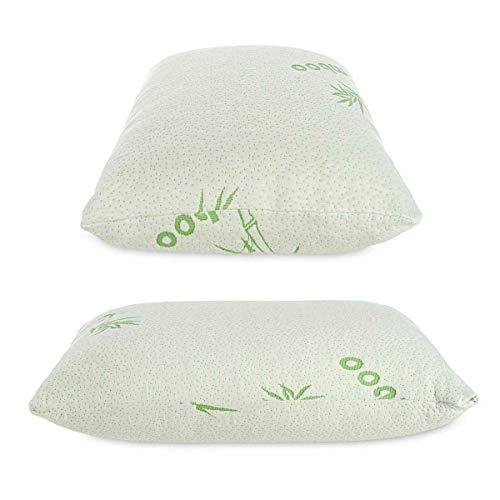 Almohada de espuma viscoelástica de bambú suave de lujo, antibacteriana de apoyo premium