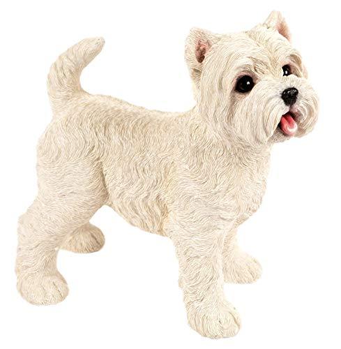 West Highland Terrier Ornament Home Decor Garden Figurine Indoor Outdoor Frostproof Weatherproof Dog Statue Westie Large White 28cm