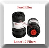 FF63009 (Lot OF 12) H.D Fuel Filter V-PRO for Cummins 5303743 Replaces FF63008 Element FH22168 with High Performance Cummins B/L Series Engine Filtration,Contaminant Holding Cap Protection Fuel System