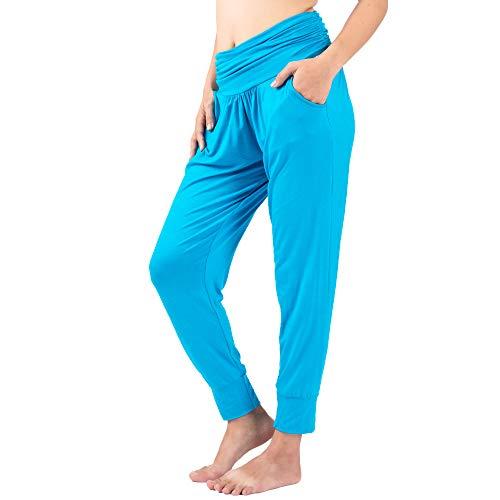 LOFBAZ Yoga Pants for Women Workout Leggings Girls Teen Sweat Joggers Womens Clothes Sweatpants Clothing Harem Jogger Pajamas Light Blue X-Large