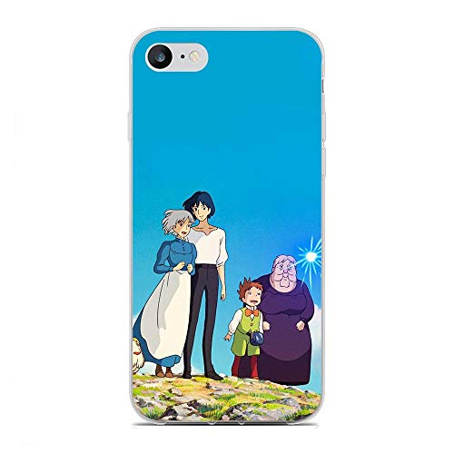 Soft Clear Coque Gel TPUFundas Compact Print Anti-Yellowing Cover Case for Apple iPhone 7/8/SE 2020-Howl's Moving-Castle 5