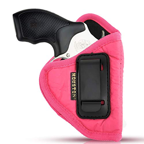 IWB Woman Pink Revolver Holster - Houston - ECO Leather Concealed Carry Soft | Suede Interior for Maximum Protection Fits: Any 38 J Frames, S&W, Charter Arms, Rossi 38, Taurus,BG (Right) (CHPK-60-RH)