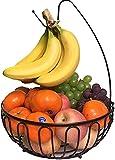Cesta de frutas con ganchos de plátano de Metal Cesta decorativa de frutas Cesta plegable Bananaen Candstery Fruit Storage Bowl para la fruta Almacenamiento Cocina Deco Basket Fruit Shells