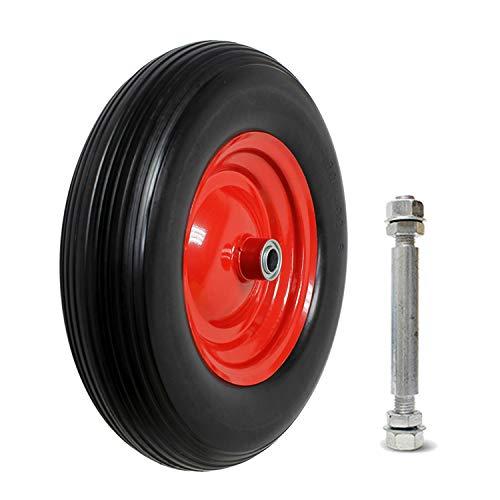 Forever Speed Schubkarren Reifen Vollgummi Sackkarre Rad Pannensicheres Schubkarrenrad Max.120kg 4.00-8 PU (1 Stück)