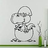 wZUN Huevo de Dinosaurio Pegatinas de Pared jardín de Infantes calcomanías de Vinilo de Dibujos Animados hogar decoración de la habitación de los niños Regalo Impermeable 42X59 cm