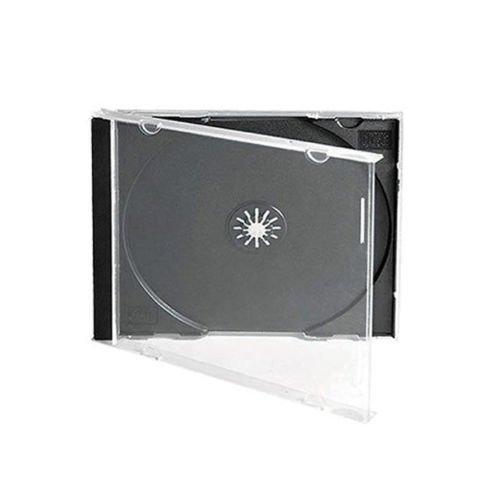 25 Singoli Standard 10mm CD Custodia Per Gioielli Con Nero Supporto