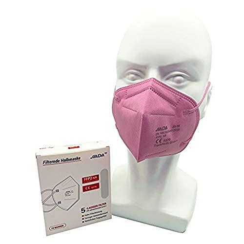 Tradeforth GmbH 100x Rosa - FFP2 in Schutzmaske, einzeln verpackt, 5 Lagig - Zertifiziert CE0370 - Dermatest: SEHR GUT