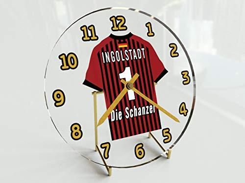 Bundesliga Fußball-Uhrim Trikot-Design –personalisierbar FC Ingolstadt 04