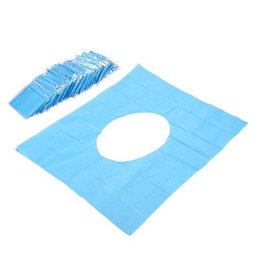 Einweg-WC-Sitzbezüge von Juvale (50er Set) - Hygienischer Schutz durch Wasserfestes Papier auf Öffentlichen Toiletten – Reisefertig Einzeln verpackt, gut zu verstauen in Tasche und Auto