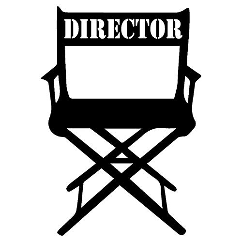 Automobiles & Motorcycles 10.7X15.3CM Movie Director Chair Vinyl Decal Black/Silver Car Sticker Personality Car-Styling (Color Name : Black)